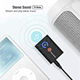 Bluetooth 5.0 Transmitter / Receiver, TaoTronics 2-in-1 Wireless 3.5mm Adapter (Low Latency, 2 Devices Simultaneously, for TV / Home Sound System)