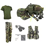 Kids Pack x Hose, T-Shirt, GAP, Dog Tags, Adventure Taille Tasche & Freie Kontakt links Kinder Army/Military ID Card. - DPM