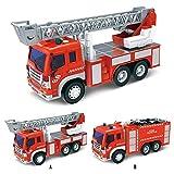 holitie Feuerwehrfahrzeug mit Kran Spielzeug reibungskraft Auto Licht Spielzeug und Kinder Spielzeug Trägheitsmusiklichter Kran LKW Feuerwehr Auto Kinder Spielzeug dekorations Geschenke