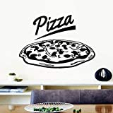 Adesivo da parete per pizza alla moda Adesivi murali moderni Citazioni Vinili Adesivi per la camera dei bambini Soggiorno Decorazioni per la casa Poster murale