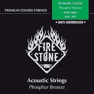 Fire & Stone 665600 Cordes pour Guitare Acoustique Jeu Phosphor Bronze