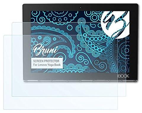Bruni Lenovo Yoga Book Folie - 2 x glasklare Displayschutzfolie