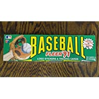 Fleer '91 Baseball Logo Stickers and Trading Cards Box Set by Fleer