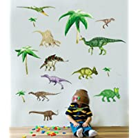 Dinosaurs - Boys - Kids - Nursery - bedroom - Wall Stickers 50 x 70cm sheet Transparent - Clear edge