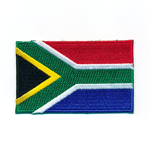 Afrika-patch (60 x 35 mm Südafrika Flagge Flag Pretoria Kapstadt Patch Aufnäher Aufbügler 1016 B)