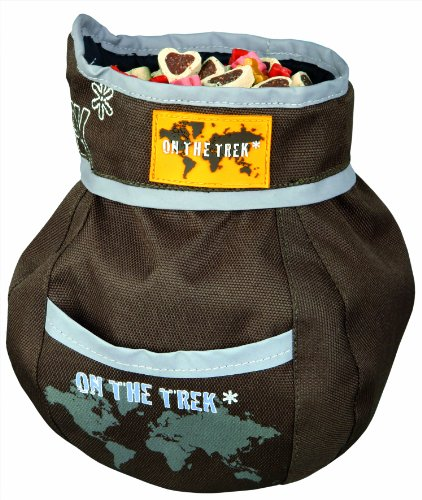 Trixie Dog Activity Snack-Tasche On the Trek, 11 x 16 cm, braun