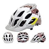 erhuo Casco da Ciclista Super Leggero Mountain Bike Bici da Strada Sport Casco Multicolore Modelli da Uomo e da Donna, Grigio Bianco, 54-63cm