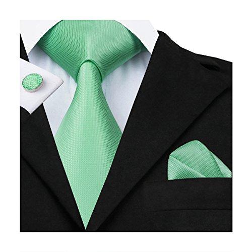 hi-tie-corbata-para-hombre-verde-verde-talla-unica