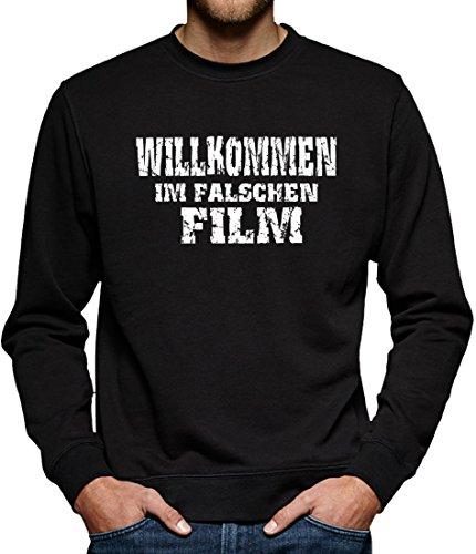 Sitz Im Kostüm Auto Mann (TLM Willkommen im falschen Film Sweatshirt Pullover Herren M)