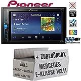 Mercedes E-Klasse W211 Lenkrad Most CanBus - Autoradio Radio Pioneer MVH-A100V - 2DIN USB Touch TFT - Einbauzubehör - Einbauset