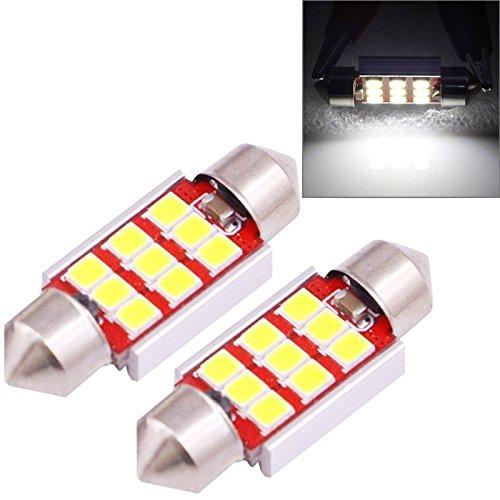 Luci di alta qualità, 2 PCS 36mm 3.0W 180LM weißes Licht 9 LED SMD 2835 CANBUS Kfz-Kennzeichen-Leselicht-Auto-Glühlampe -