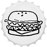 Azeeda 'Köstlicher Burger' Cap Förmiger Flaschenöffner Kühlschrankmagnet (BO00017699)