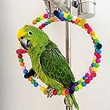 58cm Haustier-Vogel Holzschaukel Flexible Kleintiere Climb Leiter Vogel Papageienspielzeug - 2