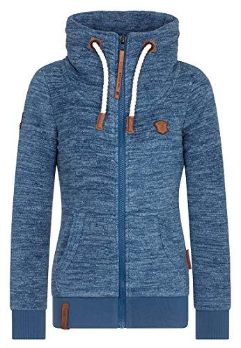 Naketano Female Zipped Jacket Redefreiheit Pimped Blue Stone Melange, L