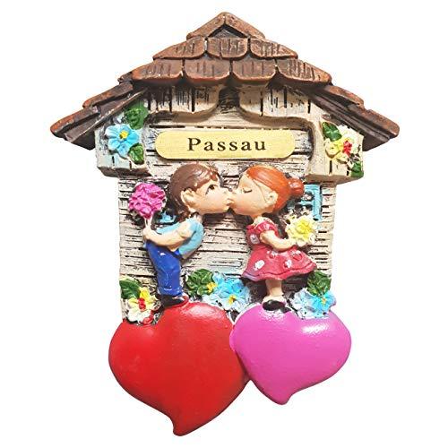 Ciffre Magnet Herz Polyresin Kühlschrank Kuss 3D Paar - Passau