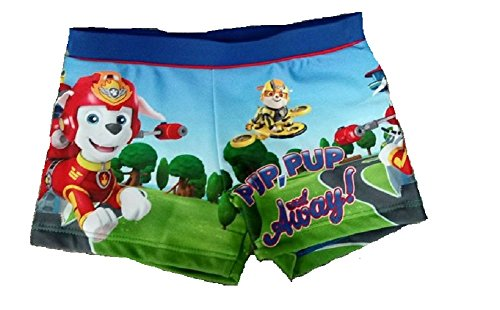 f269f3cc2ebee Boys Paw Patrol Swimming Trunks Boxers Shorts Age 2 3 4 5 6 Years Official  Character (Navy Pup Pup Away, 3-4 Years)