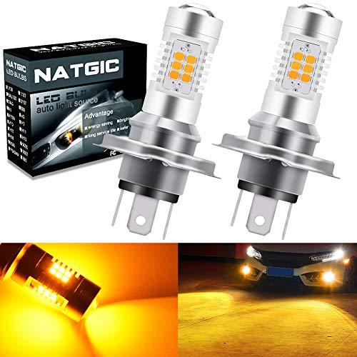 NATGIC PSX24W Lampadine fendinebbia a LED xenon bianco 21 - Chipset SMD EX 2835 con proiettore per lente di ricambio Luci di marcia diurna a LED, 10-16V 10.5W (2 pezzi)