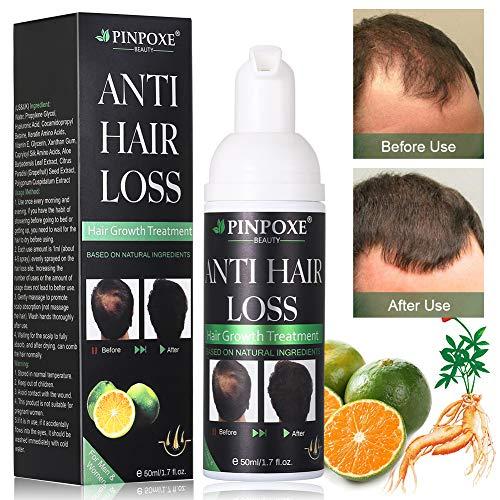 Haarwachstums, Anti Haarausfall, Haarserum,natürliche Kräuteressenz, Haar Faser für Männern und Frauen schnelles Haarwachstum, stärkt Haarwurzeln und fügt natürlichen Glanz 50ml