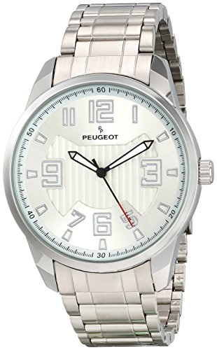 Peugeot Men's 1026S Analog Display Japanese Quartz Silver Watch