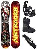 AIRTRACKS Snowboard Set - Tabla Dragon Soul Rocker 150 - Fijaciones Star - Botas Star Black 43 - SB Bolsa
