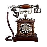 Retro Telefon FJH Geprägte Metall Dreh Wahl Mechanische Klingeltöne Pastoralen Mode Kreative Europäischen Stil Home Office 186mm * 280mm * 255mm