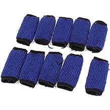 Protector Manguito Dedos Elástico Negro Deportivo Baloncesto Azul Negro 10 Piezas