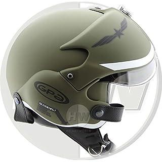 OPEN FACE SCOOTER HELMET OSBE GPA AIRCRAFT TORNADO GREEN ARMY TR1 UK 57-58CM MEDIUM