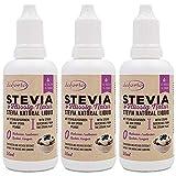 Daforto Stevia Flüssig Natur Dreierpack, Stevia-Hochkonzentrat, 3 x 50ml