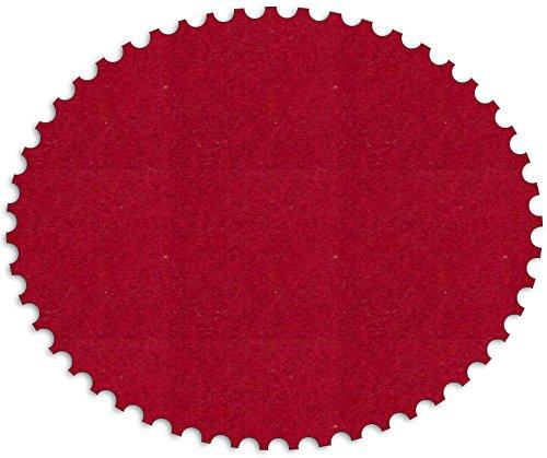 made im saarland by DIE NÄHZWERGE Filz-Tischset Klassik, ca.45x30cm – in 17 Farben erhältlich | Textilfilz, 3mm, Waschbar. Handarbeit. (Dunkelrot, 1)