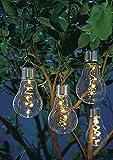 Pureday 2er Set LED Solarleuchte Glühbirne Mit Clip Glas Metall Ø 8 x Höhe 18 cm