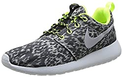 Nike Wmns Nike Rosherun Print Womens Running Shoes, Greygreen, 6 Uk