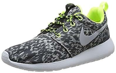 Nike Roshe Run Print, Chaussures de running femme - Gris (Cool Grey/Wolf Grey-Volt-Black 070), 37.5 EU