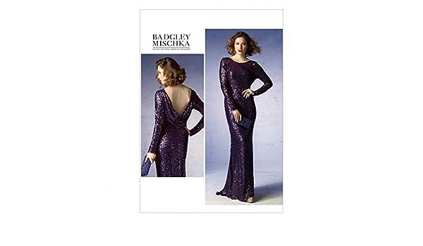 Vogue femmes 1374 Patron de couture Robe longue avec train
