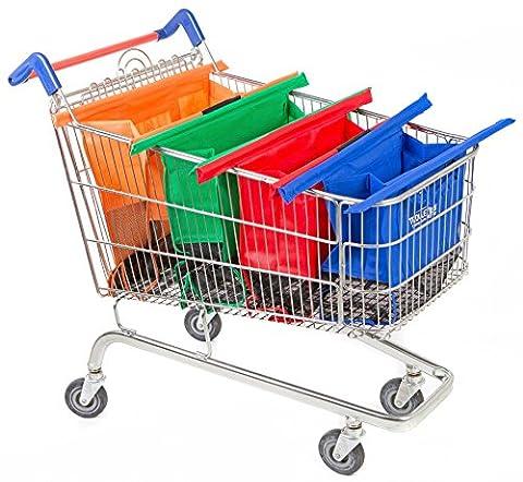 Trolley bags 4 Sacs à Courses / Commissions avec Poignées