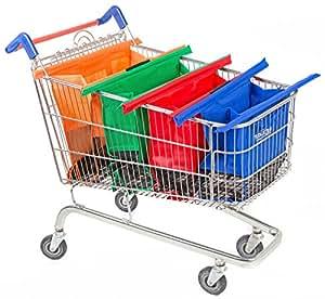 Trolley mod. Original Vibe–Set di 4sacchetti da inserire nel carrello della spesa, dimensioni: 65 x 16 x 15cm, colori assortiti
