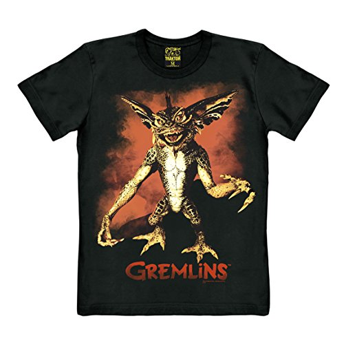 Traktor Camiseta Gremlins - Camiseta de Gremlin - Gizomo - Stripe - Camiseta con Cuello Redondo -...