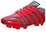#9: PortMen''s Aster Red Black Leather Football Sports Shoes