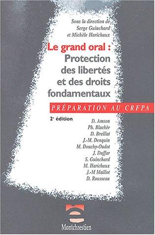 Grand oral : Protection des libertés et droits fondamentaux