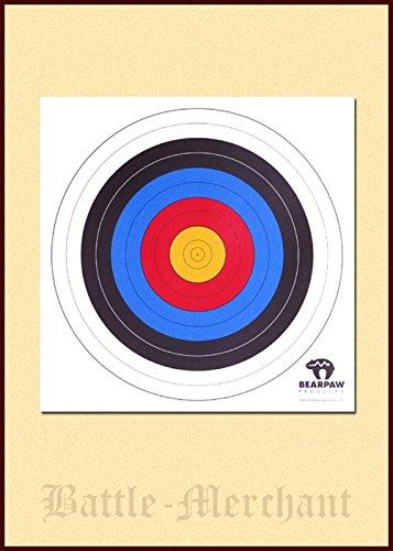 en 40x40 cm oder 60x60 cm Target Auflagen für Bogenschießen LARP Bogenschützen Mittelalter Wikinger (60cm) ()