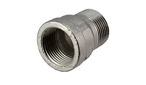 Manchon adaptateur de connecteur 1//2femelle x 1//2 m/âle Raccords de tuyau acier inoxydable NPT 304