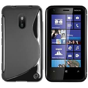 mumbi TPU Skin Case Nokia Lumia 620 Silikon Tasche Hülle - Silicon Protector Schutzhülle schwarz