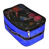 Roo Beauty Blue Crystal Makeup Cosmetics Bag