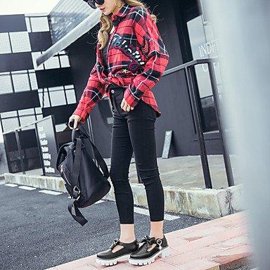 Confortevole ed elegante piatto scarpe donna Appartamenti Primavera Estate Autunno Inverno altre similpelle Office & Carriera Party & abito da sera tacco piatto Bowknot Nero Bianco Rosa Pink