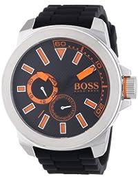 Hugo Boss  New York Multieye - Reloj de cuarzo para hombre, con correa de silicona, color negro