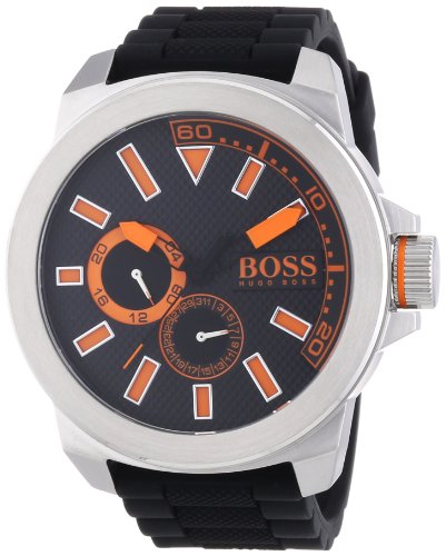 Boss Orange men's Quartz Watch Analogue Display and Silicone Strap 1513011