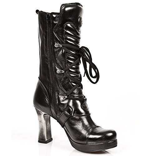 Stile 5815 Di Stivali Stivali Donna Nero Roccia Nuovi w0xzqYf6w
