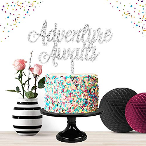 Adventure Awaits Silver Cake Topper Party Decor 2019 Congrats Grade Foto Requisite High School Graduation Feier (Lebensmitteln Versorgung Mit Ein Jahr)