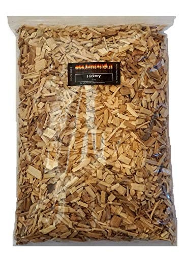 BBQ Hickory Wood Chips 1kg (approx. 4litres) Hickory Wood Chips for kettle grill and smoker.