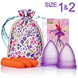 ¡Oferta adicional! - Copas menstruales - (grandes y pequeñas) - Encuentra tu ajuste perfecto - La mejor alternativa a los tampones y las servilletas sanitarias de tela