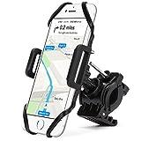 SOCU Universal Handyhalterung Fahrrad Smartphone Handyhalter Fahrrad Verstellbar für iPhone X/8/6 Plus 7/7Plus 6S/6 Galaxy S8/S7/S7 Mit 360 Drehen Für 3,5-6,1 Zoll Smartphone GPS Andere Geräte